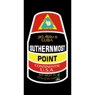 """Kaufman Southern Most Point Printed Beach Towel 30"""" x 60"""" (Set of 2)"""