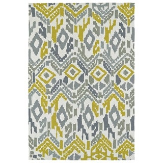 Seaside Ivory Ikat Indoor/Outdoor Rug (8'0 x 10'0)