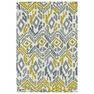 Seaside Ivory Ikat Indoor/Outdoor Rug (10'0 x 14'0)