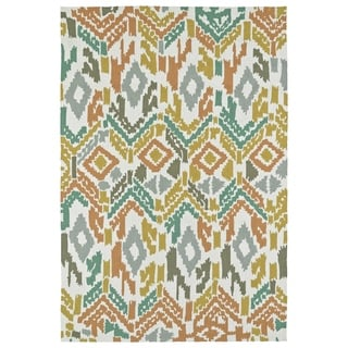 Seaside Multi Ikat Indoor/Outdoor Rug (5'0 x 7'6)