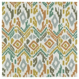 Seaside Multi Ikat Indoor/Outdoor Rug (5'9 x 5'9 Square)