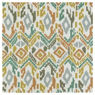 Seaside Multi Ikat Indoor/Outdoor Rug (7'9 x 7'9 Square)