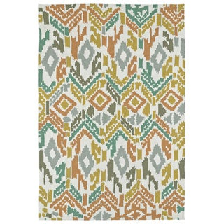 Seaside Multi Ikat Indoor/Outdoor Rug (10'0 x 14'0)