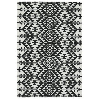 Seaside Black Global Indoor/Outdoor Rug (2'0 x 3'0)