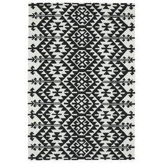 Seaside Black Global Indoor/Outdoor Rug (9u00270 X 12u00270)