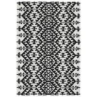 Seaside Black Global Indoor/Outdoor Rug - 10' x 14'