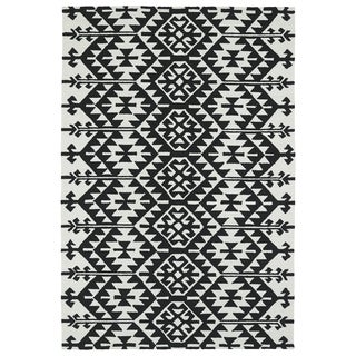 Seaside Black Global Indoor/Outdoor Rug (4'0 x 6'0)