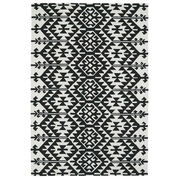 Seaside Black Global Indoor/Outdoor Rug - 9' x 12'