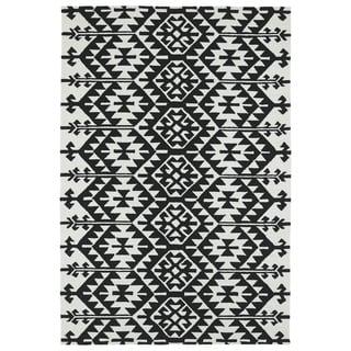 Seaside Black Global Indoor/Outdoor Rug (8' x 10')