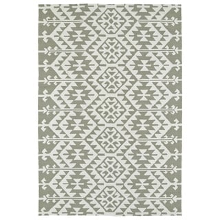 Seaside Taupe Global Indoor/Outdoor Rug (4'0 x 6'0) - 4' x 6'