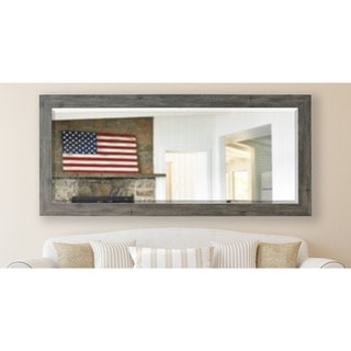 American Made Rayne 30.5 x 71-inch Grey Barnwood Extra Tall Mirror