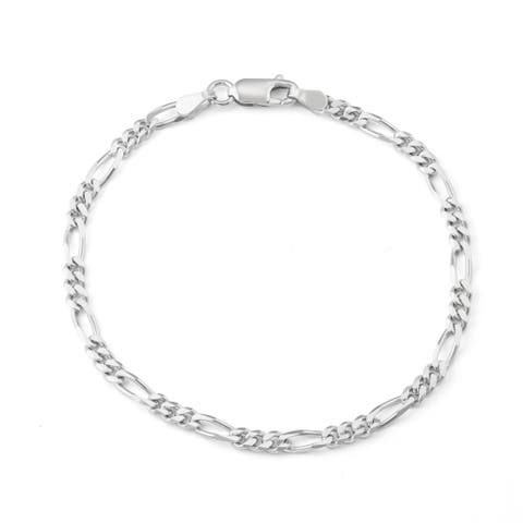 Jordan Blue NYC Sterling Silver Men's Figaro Chain Bracelet
