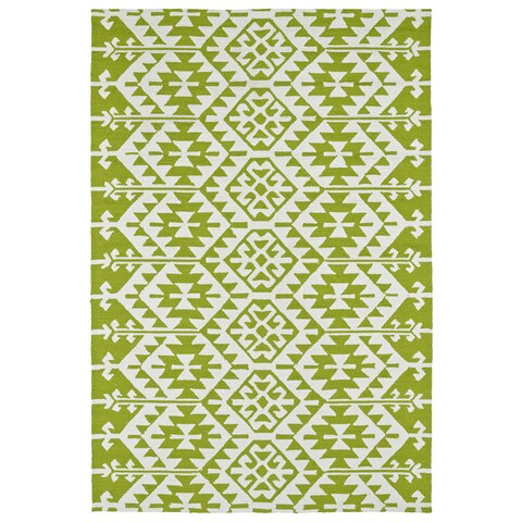 Seaside Lime Green Global Indoor/Outdoor Rug - 10' x 14'