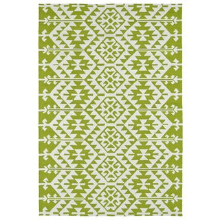 Seaside Lime Green Global Indoor/Outdoor Rug (10'0 x 14'0)