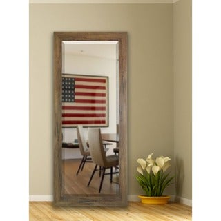 American Made Rayne 30.5 x 71-inch Brown Barnwood Extra Tall Floor/ Vanity Mirror