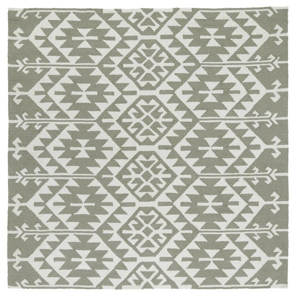"Seaside Taupe Global Indoor/Outdoor Rug - 5'9"" Square"