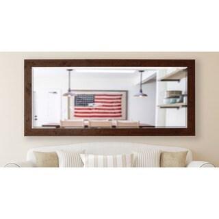 American Made Rayne 30.5 x 71-inch Rustic Dark Walnut Extra Tall Wall/ Vanity Mirror