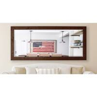 American Made Rayne 30.5 x 71-inch Rustic Dark Walnut Extra Tall Wall/ Vanity Mirror - Dark Walnut