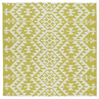 Seaside Wasabi Global Indoor/Outdoor Rug (5'9 x 5'9 Square)