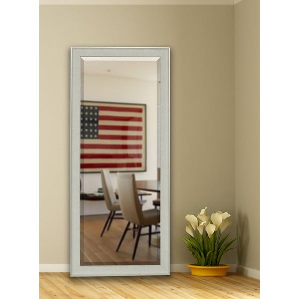 American Made Rayne 28.5 x 69-inch Vintage White Extra Tall Mirror - White/Silver