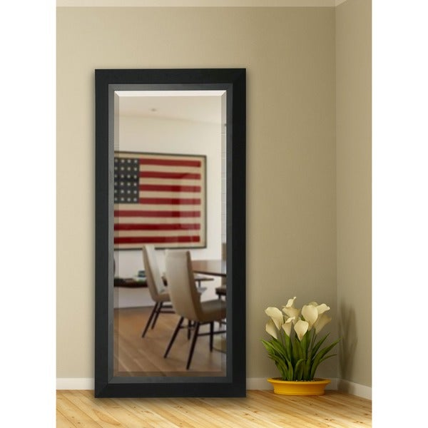 American Made Rayne 30 x 70.5-inch Attractive Matte Black Extra Tall Wall Vanity Floor Mirror
