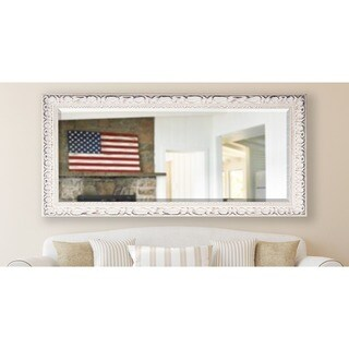 American Made Rayne 30.5 x 71-inch French Victorian White Extra Tall Wall/ Vanity Mirror - Antique White