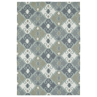 Seaside Pewter Green Nomad Indoor/Outdoor Rug - 10' x 14'