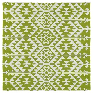 Seaside Lime Green Global Indoor/Outdoor Rug (5'9 x 5'9 Square)