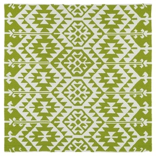 Seaside Lime Green Global Indoor/Outdoor Rug (7'9 x 7'9 Square)
