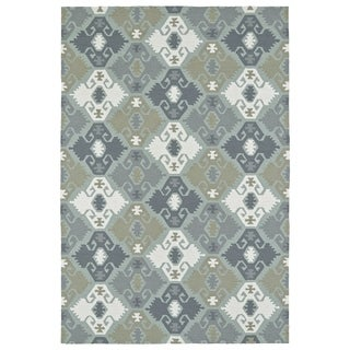 Seaside Pewter Green Nomad Indoor/Outdoor Rug (2'0 x 3'0)