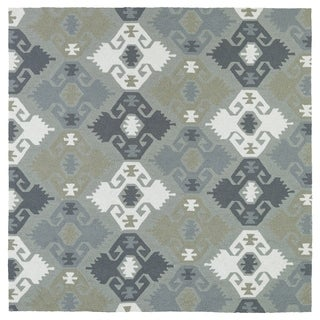 Seaside Pewter Green Nomad Indoor/Outdoor Rug (7'9 x 7'9 Square)