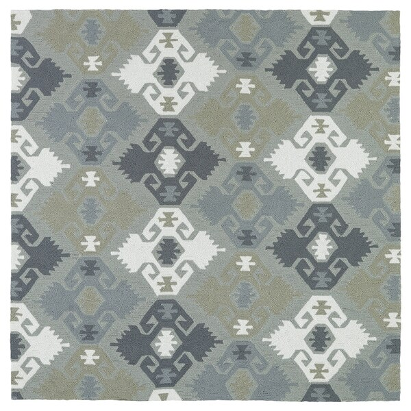 Seaside Pewter Green Nomad Indoor Outdoor Rug 7 X27 9 X