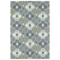 Seaside Pewter Green Nomad Indoor/Outdoor Rug - 8' x 10'