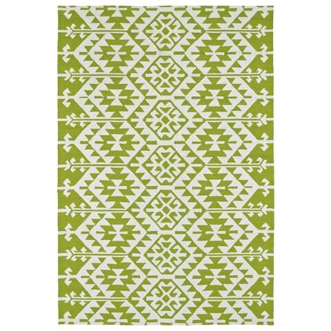Seaside Lime Green Global Indoor/Outdoor Rug - 4' x 6'