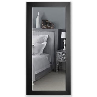 American Made Rayne 30.5 x 71-inch Black Satin Wide Extra Tall Mirror