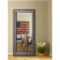 American Made Rayne 30.5 x 71-inch Antique Silver Extra Tall Floor/ Vanity Mirror - Silver/Black