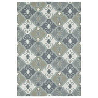 Seaside Pewter Green Nomad Indoor/Outdoor Rug (4' x 6')
