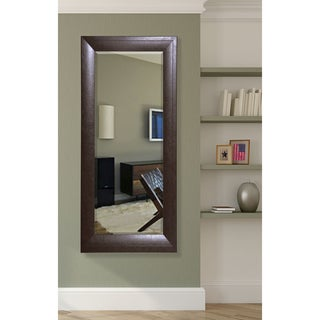 American Made Rayne 30.75 x 71.25-inch Espresso Leather Extra Tall Mirror