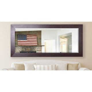 American Made Rayne 31 x 71.5-inch Wide Brown Extra Tall Mirror