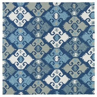 Seaside Blue Nomad Indoor/Outdoor Rug (5'9 x 5'9 Square) - 5'9 x 5'9