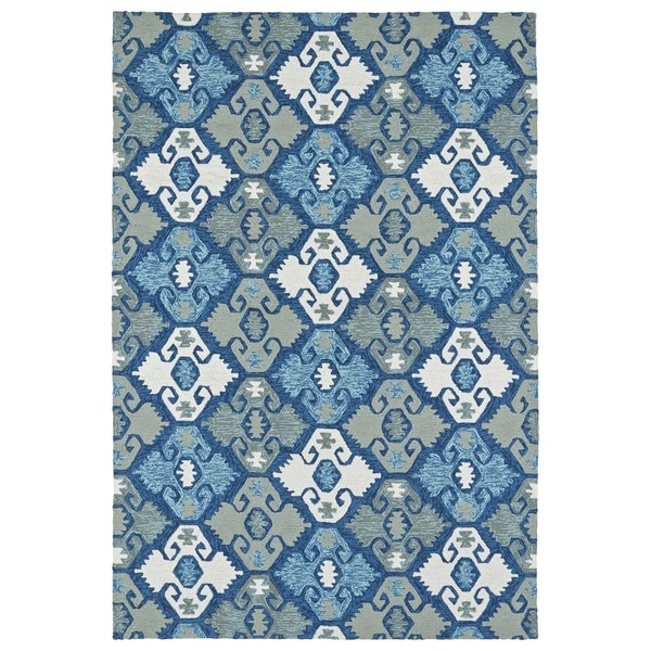 Seaside Blue Nomad Indoor/Outdoor Rug - 8' x 10'