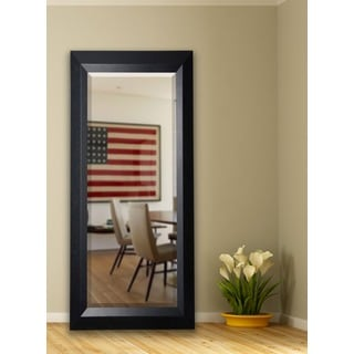 American Made Rayne 30.5 x 71-inch Solid Black Angle Extra Tall Mirror