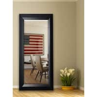 American Made Rayne 30.5 x 71-inch Solid Black Angle Extra Tall Floor/ Vanity Mirror