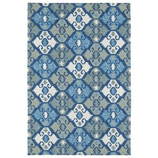 Seaside Blue Nomad Indoor/Outdoor Rug (10'0 x 14'0)