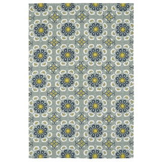 Seaside Pewter Green Floral Indoor/Outdoor Rug (10'0 x 14'0)