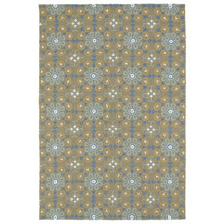Seaside Brown Floral Indoor/Outdoor Rug (10'0 x 14'0)