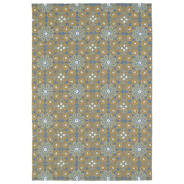 Seaside Brown Floral Indoor/Outdoor Rug (10'0 x 14'0)