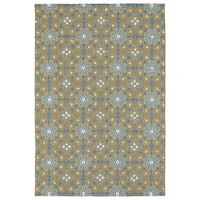 Seaside Brown Floral Indoor/Outdoor Rug - 8' x 10'