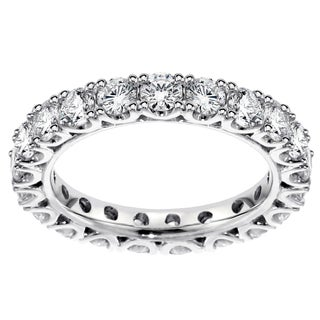 Platinum 1 1/2 - 1.85ct TDW Diamond Eternity Wedding Band (G-H, SI1-SI2)