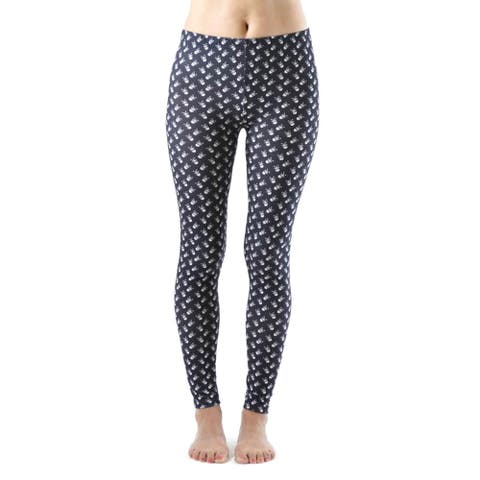 Juniors' Skull and CrossBones Ankle Leggings